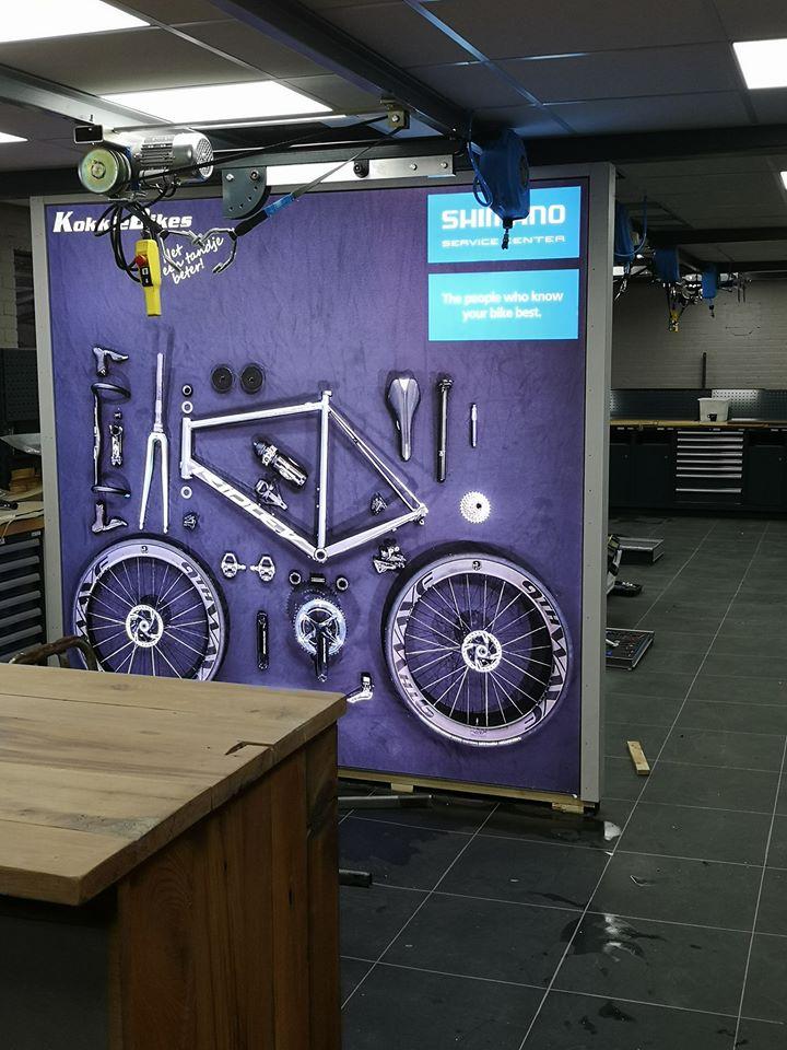 Wantix LED textiel fotowand - Kokkie Bikes (4)