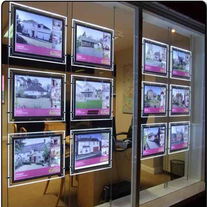 Prolutix Kristal LED display voor makelaars (